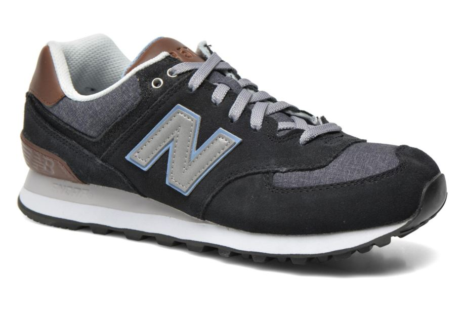 black new balance trainers